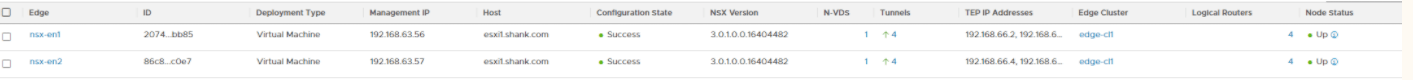 nsx-t edge cluster healthy