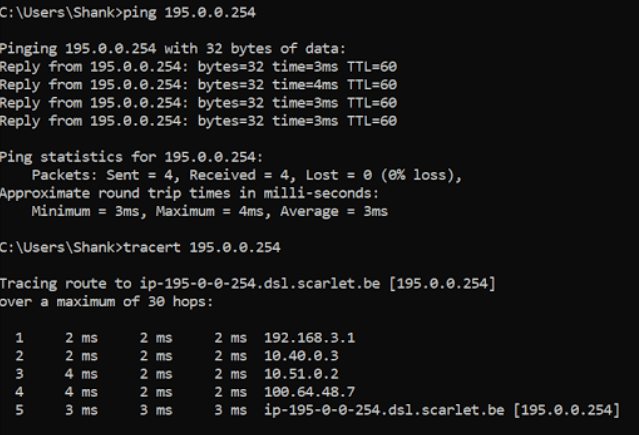 nsx-t active-active traceroute from client to show path the data is taking.