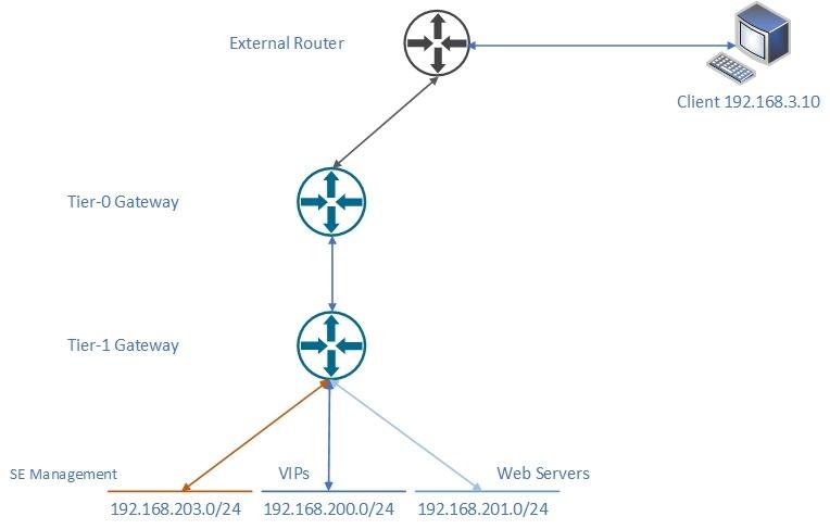 nsx alb logical network topoligy for ssl termination