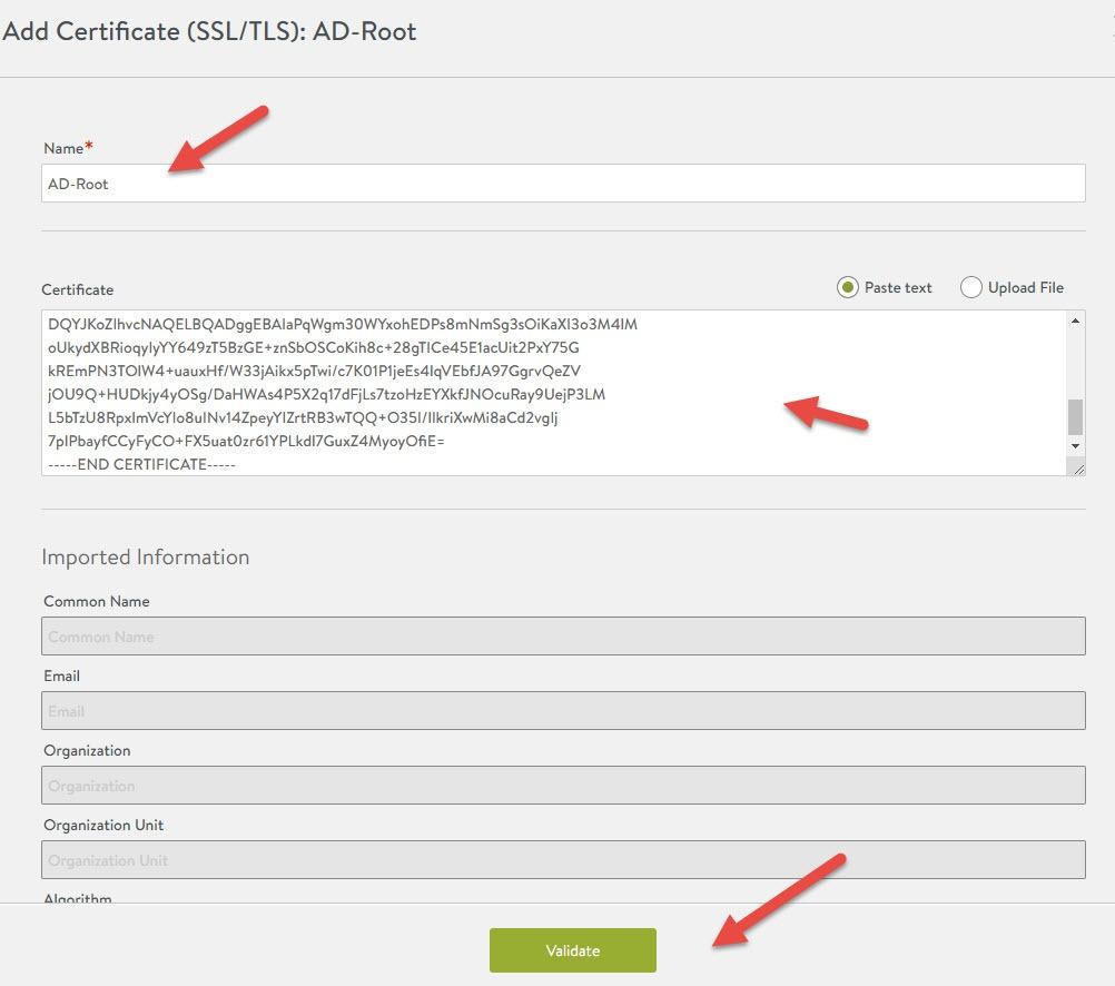 nsx-alb import root ca certificate